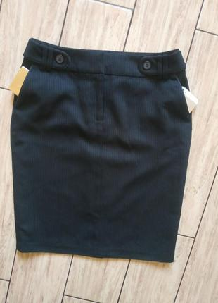 Стильная юбочка с косыми карманами