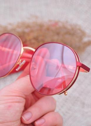 Фирменные солнцезащитные круглые очки katrin jones polarized