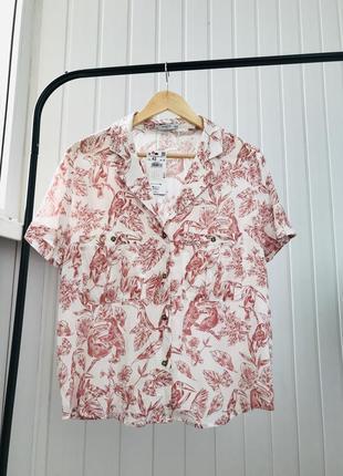Тотальная распродажа только до 6.04!  блуза в узор вискоза новая reserved