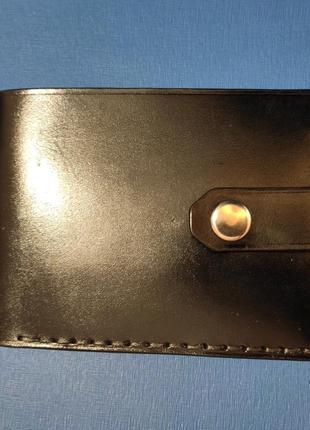 Мужской кожаный кошелек, чоловічий шкіряний гаманець, натуральна шкіра, ручна робота