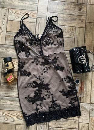 🖤 новое нарядное платье расшитое пайетками parisian collection оригинал 🖤