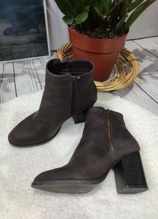 Трендовые ботиночки ботильоны primark с квадратным носком на квадратном каблуке