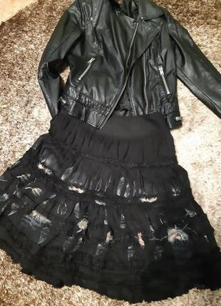 Шифоновая юбка в стиле бохо