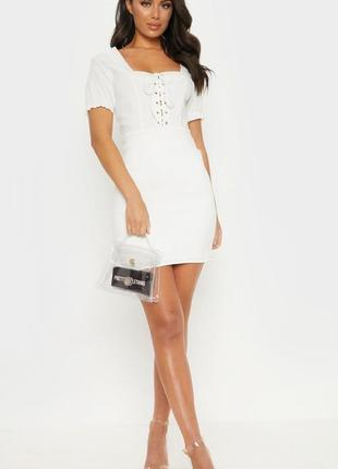 Платье с рукавами-фонариками тренд от plt (бирка!)