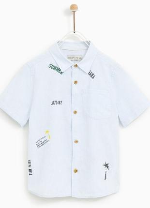 Рубашка с коротким рукавом  на 10 и 12 лет