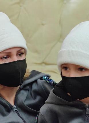 """Многоразовая защитная маска для лица family look модель """"питта"""""""