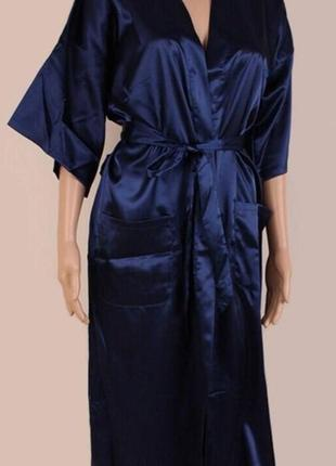 Классный шелковый халат с рисунком