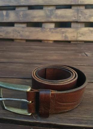 Ремень, натуральная толстая кожа made in italy