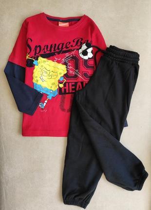 Яскравий реглан губка боб + спортивні штани crafted