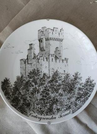 Декоративная тарелка на стену gustavsberg, швеция. винтаж посуда из европы