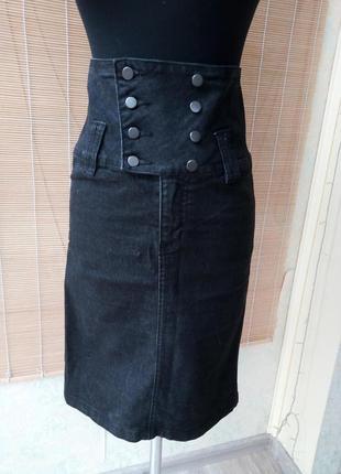 #розвантажуюсь джинсовая юбка карандаш с высокой талией
