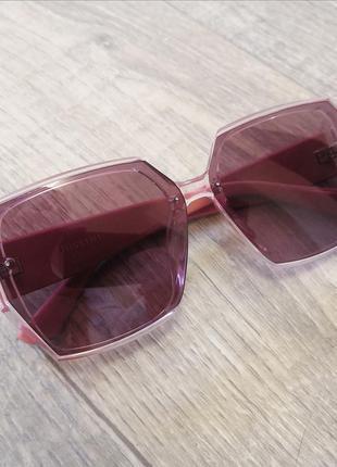 Очки розовые с поляризацией качественные