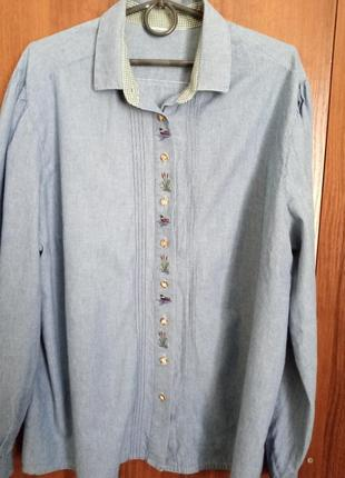 Ретро-блуза под джинс