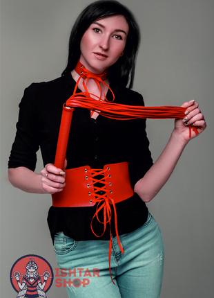 Пояс корсет на шнуровке ручная работа