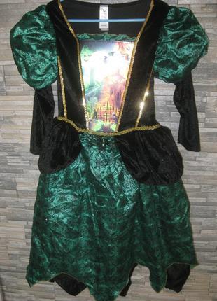 Платье карнавальное костюм на хэлоуин 9-10л.