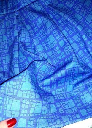 🌿1+1=3 фирменная яркая синяя короткая пышная юбка guides, размер 42 - 444 фото