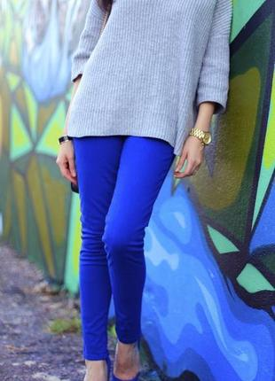Синие джинсы | брюки | штаны | цветные скинни #розвантажуюсь