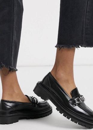 Стильные лоферы слипоны ботинки туфли весенние на весну в стиле zara