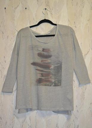 Новая фирменная льняная (100%) футболка швейцарского бренда nile, р. xl