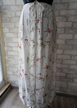 #розвантажуюсь юбка макси в цветочный принт в бохо стиле