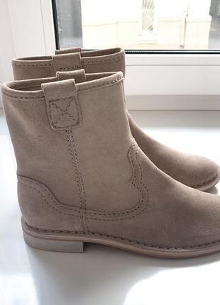 Женские сапоги ботинки натуральный замш clarks