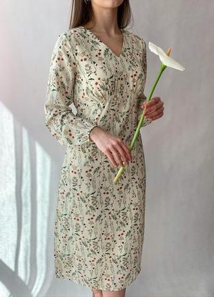 Платье в цветок2 фото