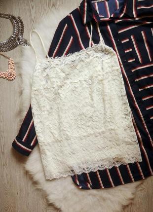 Белая майка блуза ажурная гипюр вышивка в бельевом стиле стрейч батал большой размер
