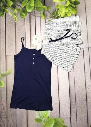 Пижама хлопковая майка плюс шорты комплект