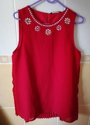 Блузка красная 13-14 лет