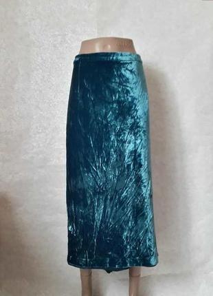Фирменная boden шикарная юбка-миди с переливающегося мягкого бархата, размер 5хл