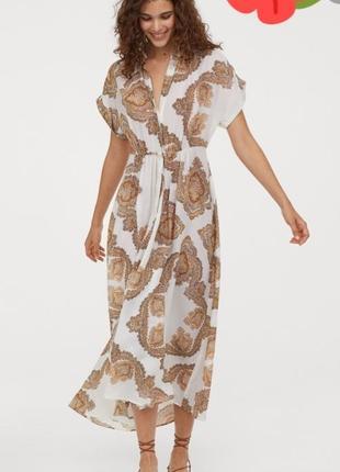 Шикарное натуральное платье в принт 😍😍😍