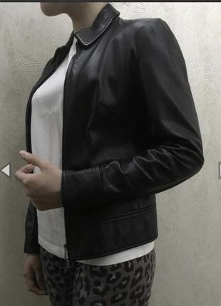 Дизайнерская базовая кожаная куртка/блейзер от vera pelle🇮🇹