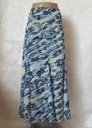 Фирменная per una пышная юбка в пол в красочную абстракцию, размер хл