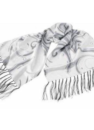 Белый шарф шарфик атласный шёлковый mary kay мери кей