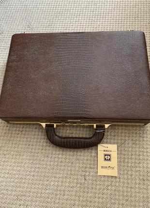 Кейс чемодан папка для документов monsca италия  игуана