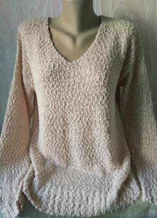 Нежный свитерок пудрового цвета большого размера