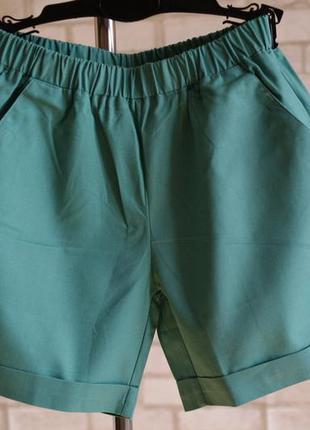 Распродажа, шорты из хлопка морская волна
