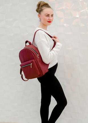 Женский бордовый вместительный портфель
