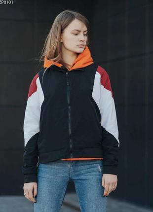 Ветровка staff retro black & red