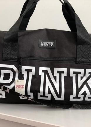 Яркая спортивная сумка pink vs victoria's secret виктория сикрет