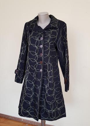 Оригинальный хлопковый плащ легкое пальто
