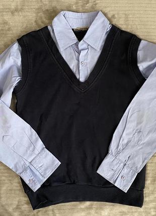 Рубашка обманка в школу