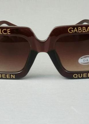 Dolce & gabbana очки большие квадратные женские коричневые2 фото