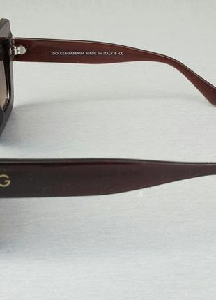 Dolce & gabbana очки большие квадратные женские коричневые3 фото