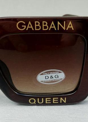 Dolce & gabbana очки большие квадратные женские коричневые5 фото