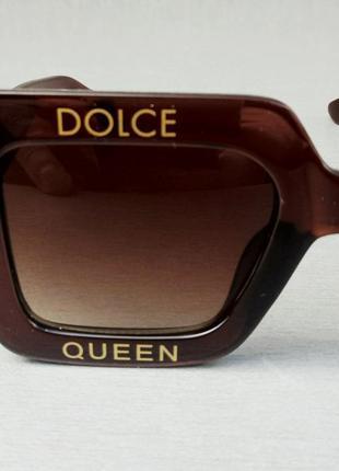 Dolce & gabbana очки большие квадратные женские коричневые6 фото