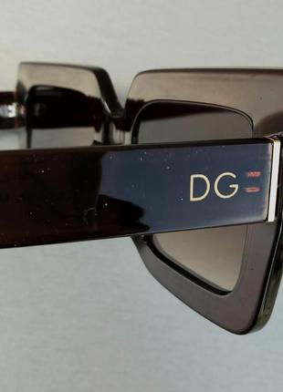 Dolce & gabbana очки большие квадратные женские коричневые9 фото