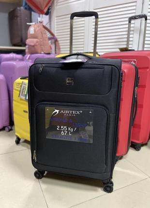 Тканевый чемодан средний airtex. франция