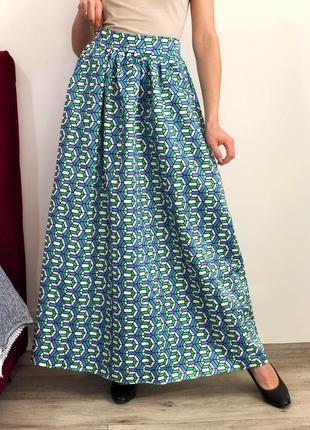 Шикарная пышная юбка макси на высокой посадке