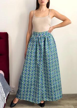 Шикарная пышная юбка макси на высокой посадке2 фото